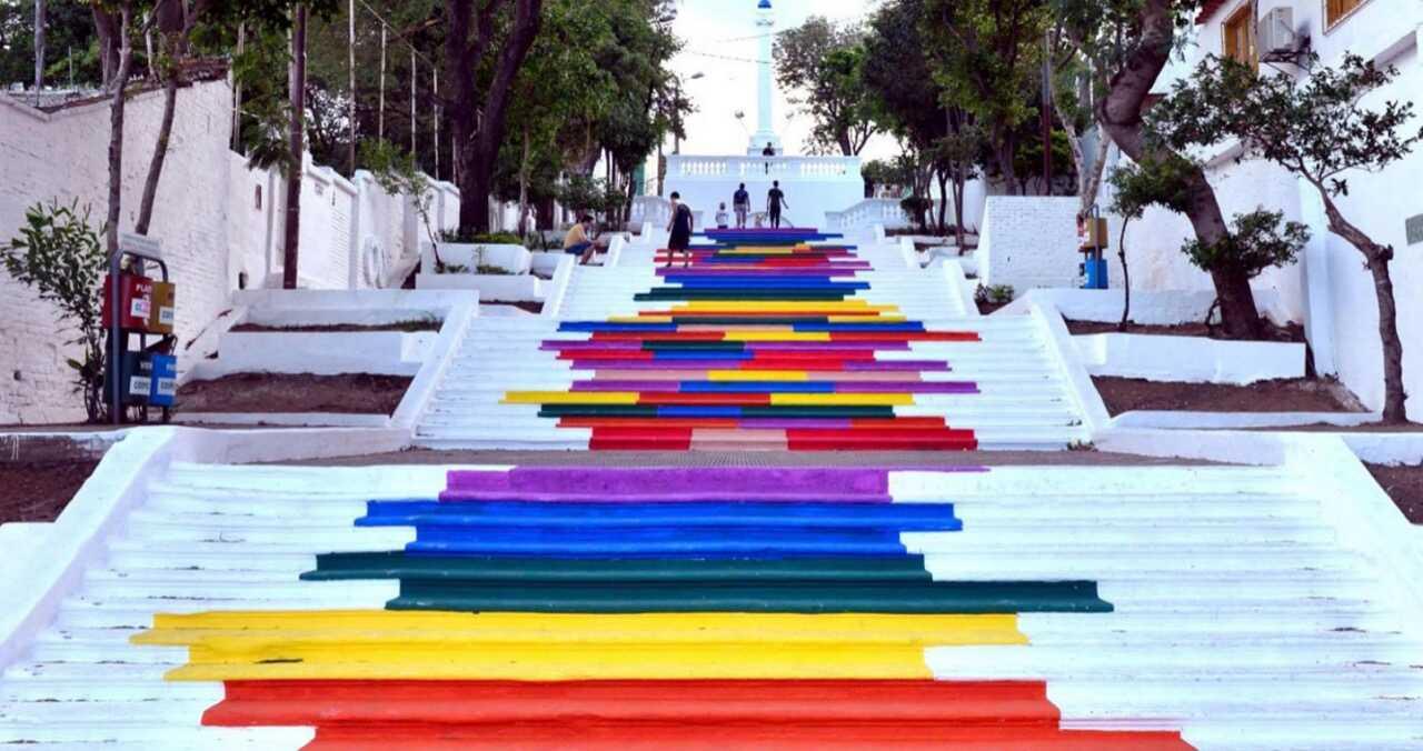 Priz Praz Pruz, pintata en la Escalinata Antequera, 2013. Cortesía
