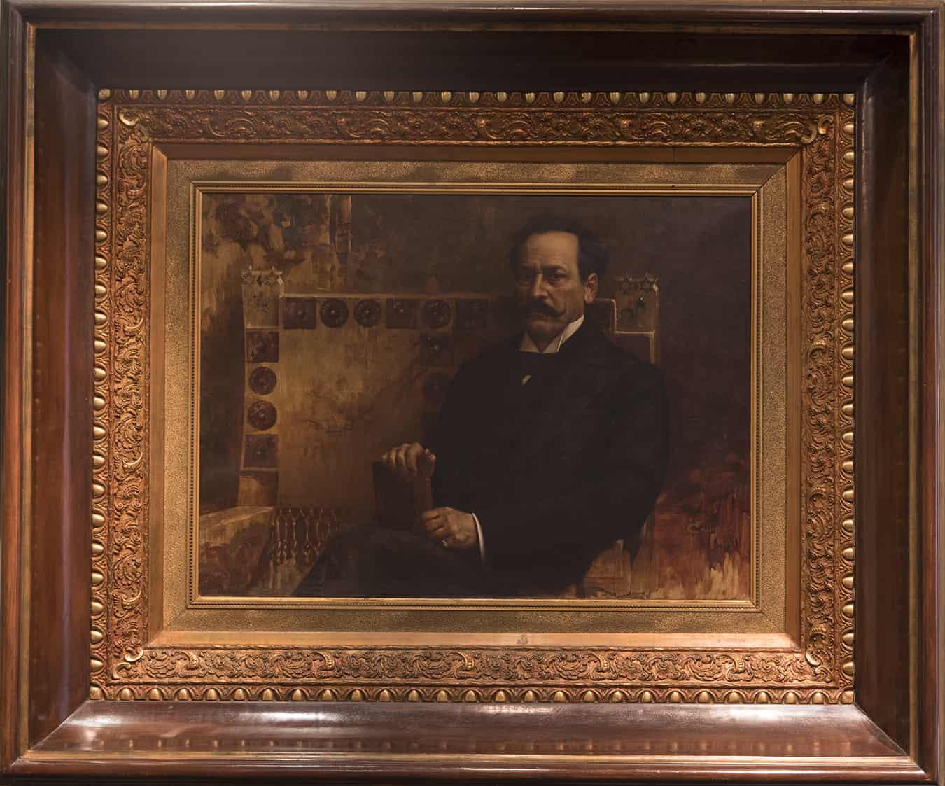 """Teófilo Castillo, """"Retrato de Juan Silvano Godoy"""", 1901. Colección MNBA © Laura Mandelik"""