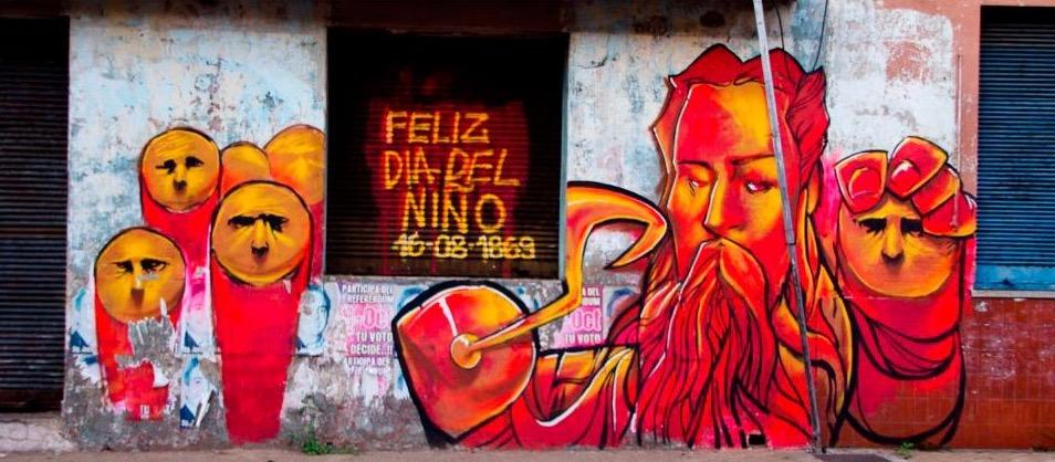 Mural. Proyecto Héroes de la Dependencia. Cortesía Yuki Yshizuka