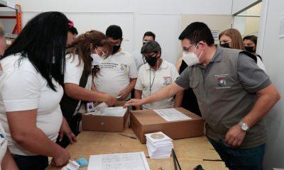Preauditoría de maletines electorales. (Foto Gentileza)