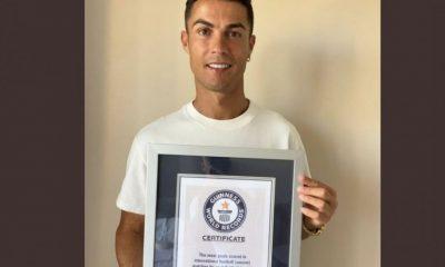 Cristiano Ronaldo, el hombre récord. Foto: Twitter.
