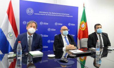 La delegación paraguaya que participó del encuentro con representantes de Portugal. Foto MRE