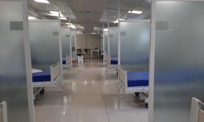 Salas de Covid 19 sin pacientes. (Gentileza)