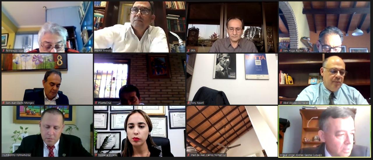 La Comisión se reunirá esta tarde con los postulantes de forma virtual. (Foto Senado).