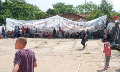 Cancha de la Seccional Colorada Nº 30 fue ocupada por algunas horas por ciudadanos indignados. Foto: Gentileza.