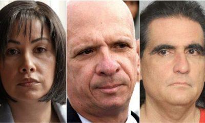 """Claudia Díaz Guillén, Hugo """"El Pollo"""" Carvajal y Alex Saab. Foto: Agencias."""