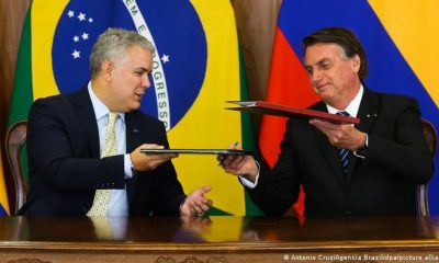 Duque y Bolsonaro firmaron siete acuerdos de cooperación en temas como combate al narcotráfico, exportaciones, saneamiento, agricultura y tecnología. Foto: Picture Aliance.