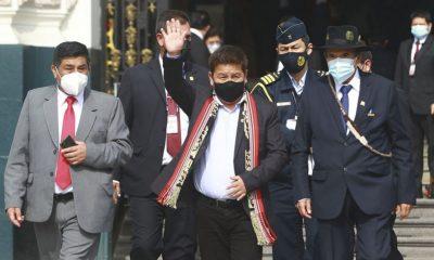 Guido Bellido presentó su renuncia como primer ministro de Perú. Foto: Agencia Andina.