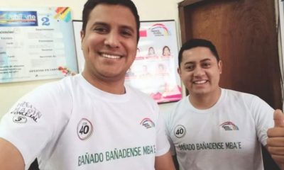 Luis Narvaja (derecha) y el candidato a concejal Héctor Marín. (Foto Facebook).