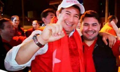 "Alfredo ""Fredy"" Medina (izq) junto con el intendente electo Berni Villalba. (Gentileza)"