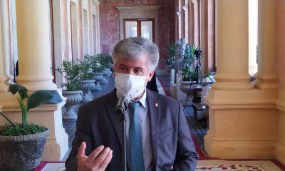 Arnaldo Giuzzio, en el Palacio de López. (Foto Gentileza)