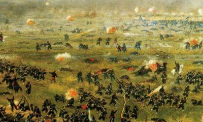 Cándido López. Una de sus tantas pinturas sobre la Guerra del Paraguay. Cortesía