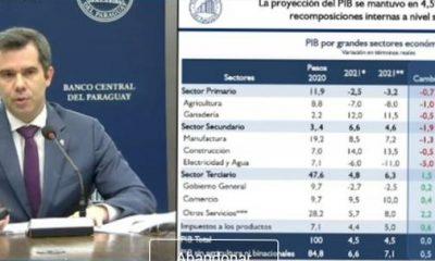 El titular del BCP, José Cantero, presentó la revisión. Gentileza