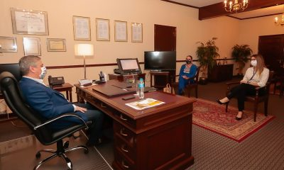 Ministro del TSJE se reune con misión AMEA. (Foto TSJE).