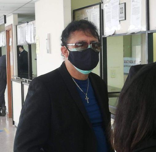 Victor Bogado apareció en Tribunales. (Foto Gentileza).