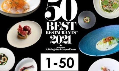 La lista de los 50 mejores restaurantes del mundo.