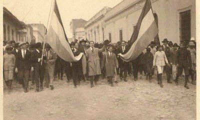 23 de octubre de 1931. Manifestación en las calles de Asunción. Cortesía